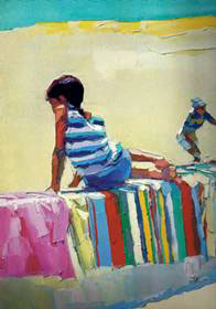 """Boy on a Beach Towel"" - Nicola Simbari"