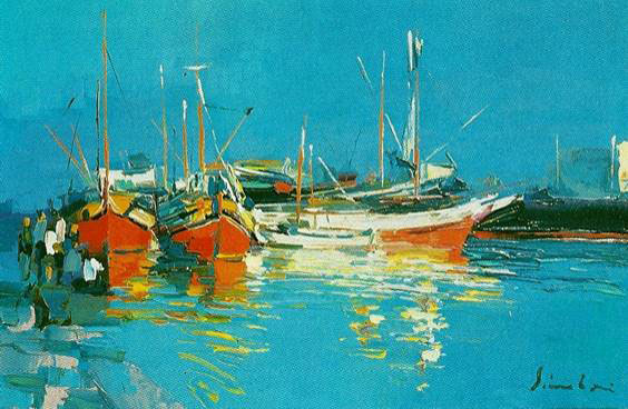 """Greek Harbour"" - Nicola Simbari"