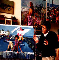 Nicola Simbari in his Studio